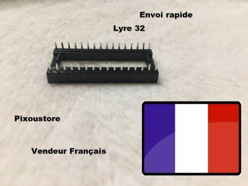 Lot de supports Lyre pour circuit intégré 32 broches lot au choix 4-10 DIP 32