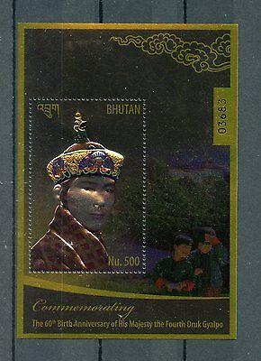 Just Bhutan 2015 Mnh 4th Druk Gyalpo King Jigme Wangchuck 60th Ann 1v Gold S/s Stamps Topical Stamps