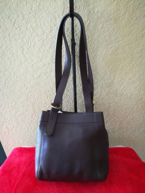 f69aed5f4c COACH VINTAGE CHOCOLATE BROWN GLOVE LEATHER SOHO BUCKLE BAG E72-4157 ...