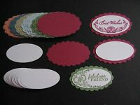 48pc Cardstock Tags 2008 In Color Stampin Up Scallop Oval & Large Oval Punches