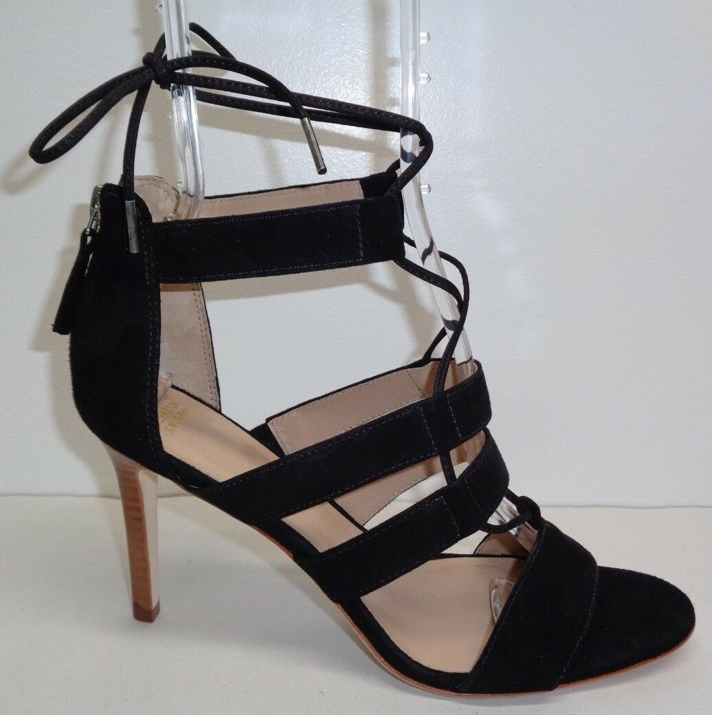 Johnston & Murphy Size 8.5 M NATASHA Black Kid Suede Sandals New Womens shoes