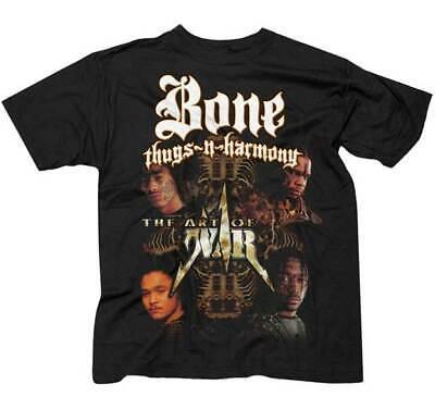 Bone Thugs N Harmony Mens Classic Short Sleeve Music Band T-Shirts Black