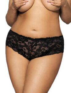 3c53a36083 Brand New 8-24 Lace Womens Black Underwear Undies Panties Plus Size ...