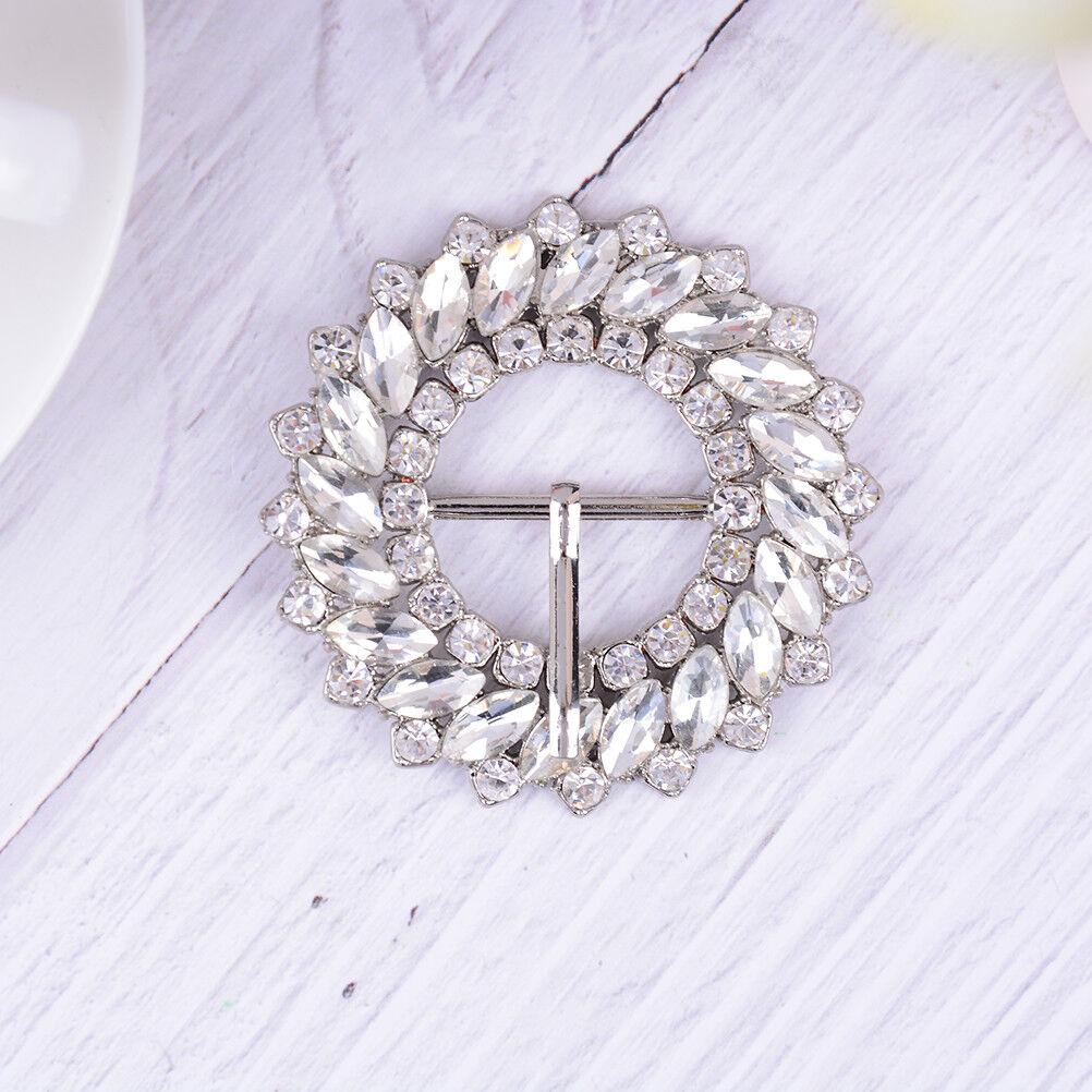 1PC rhinestone crystal shoe clips women bridal wedding shoes buckle decor CAXG