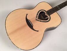 Zemaitis Jumbo Mustache Bridge Acoustic Model CAJ-200HS with Zemaitis Gig Bag