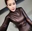 Womens-Vogue-Slim-Warm-PU-Leather-Tops-Casual-Turtleneck-Blouse-Plus-Shirt-New thumbnail 15