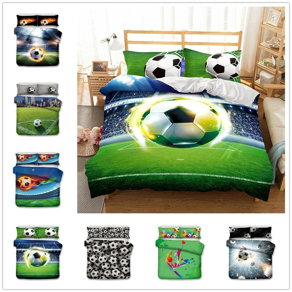 3D Football Kids Bedding Set Sport Soccer Boy Duvet Cover Quilt Cover Pillowcase