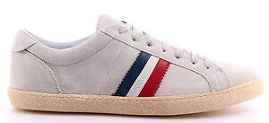 Caricamento dell immagine in corso Scarpe-Uomo-Sneakers-MONCLER -Camoscio-Grigio-Ghiaccio-Nuove 8198b35ebf2