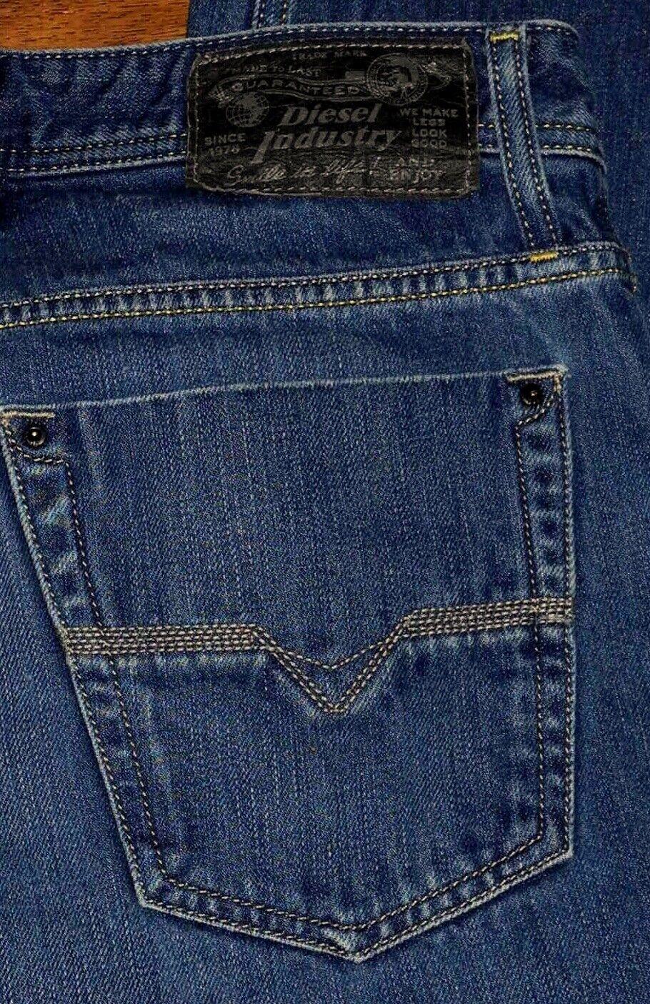 5086ffef Authentic DIESEL KORRIK Fly Button Boot Cut Men's bluee WashP8 Jeans Sz  30x30