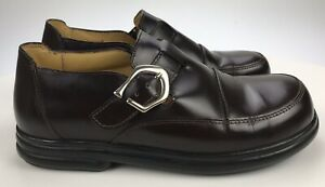 Birkenstock-Footprints-Sanibel-Women-s-38-Regular-Dark-Brown-Leather-Loafer-Shoe