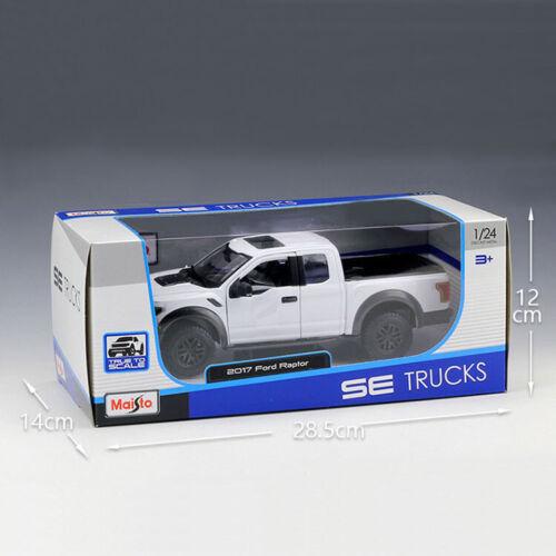 Maisto 1:24 Scale White 2017 F-150 Raptor PICK-UP Truck Diecast Alloy Car Model