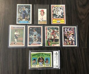 Nice-Carlton-Fisk-Collection-With-Rookie-amp-Topps-Tiffany-Cards