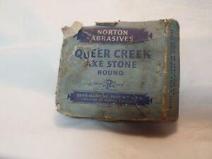 Vintage Norton Abrasives Queer Creek Axe Stone Ebay