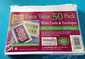 Docrafts-Card-Blanks-amp-envelopes-260gsm-x50-A6-White-value-bumper-pack-set