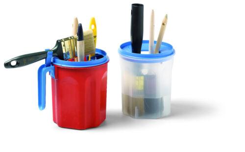6 Pinsel Farbbecher PRONTO PRO mit Pinselhalter für Farbe Mischbecher für max