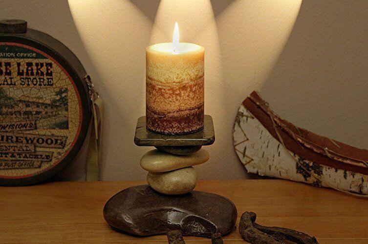 Stone Candle Holder Lodge Cabin Log Cabin Southwestern Primitive Decor