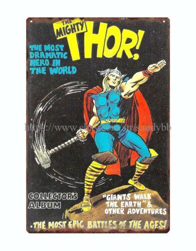 man cave mancave wall decor  comics Thor metal tin sign