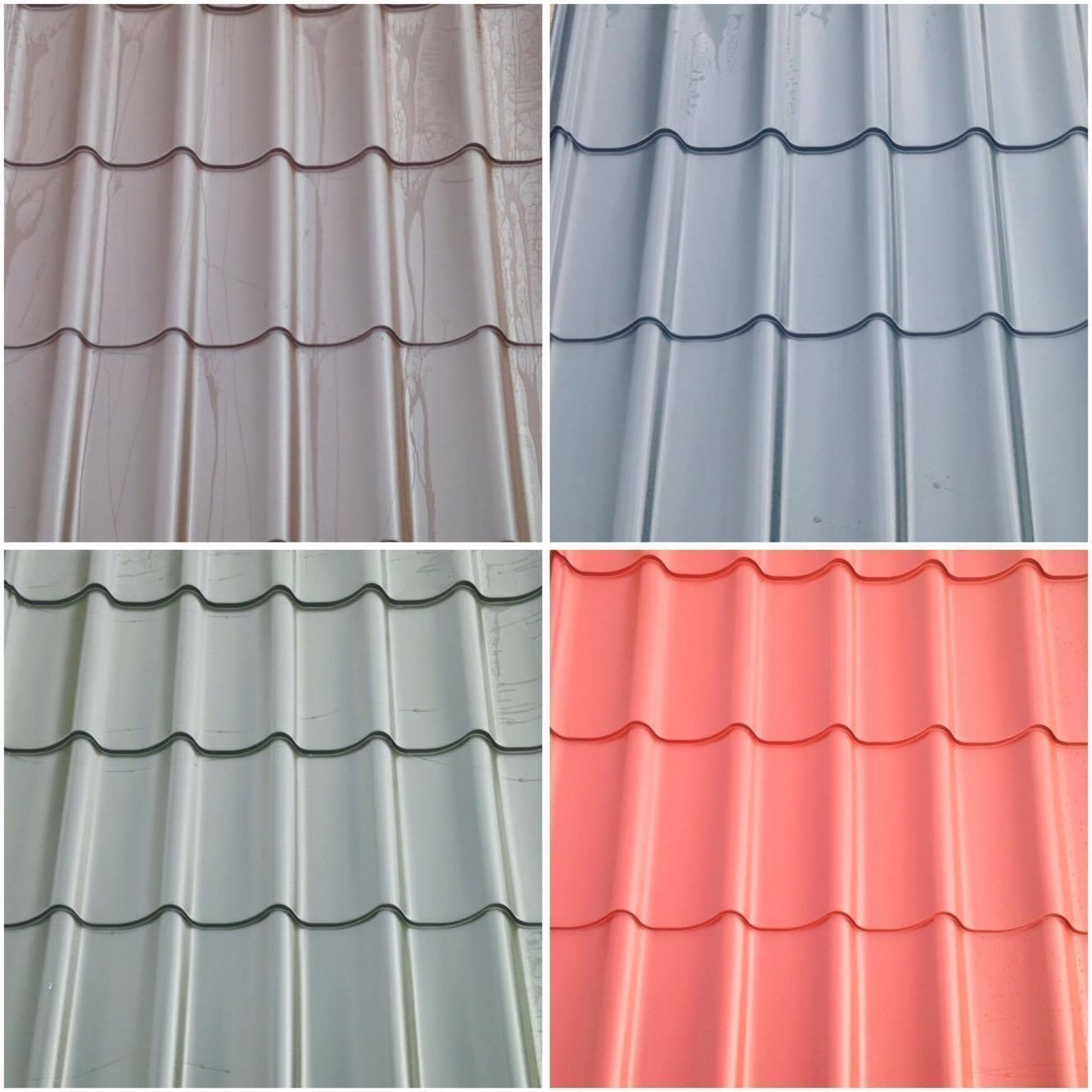 Pan Tile Steel Roofing Sheets Metal Tiled / Tile Roof ...
