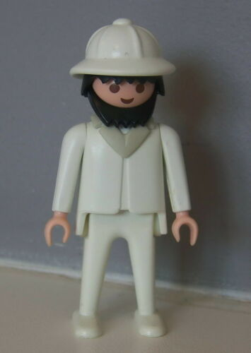 PLAYMOBIL SAFARI Explorateur avec Casque Colonial Blanc 3364 3529 P504