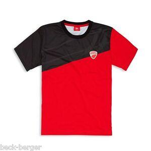 DUCATI Adventure a Maniche Corte T-Shirt Maglietta funzionale Maglietta Rosso Nero Nuovo!!!  </span>
