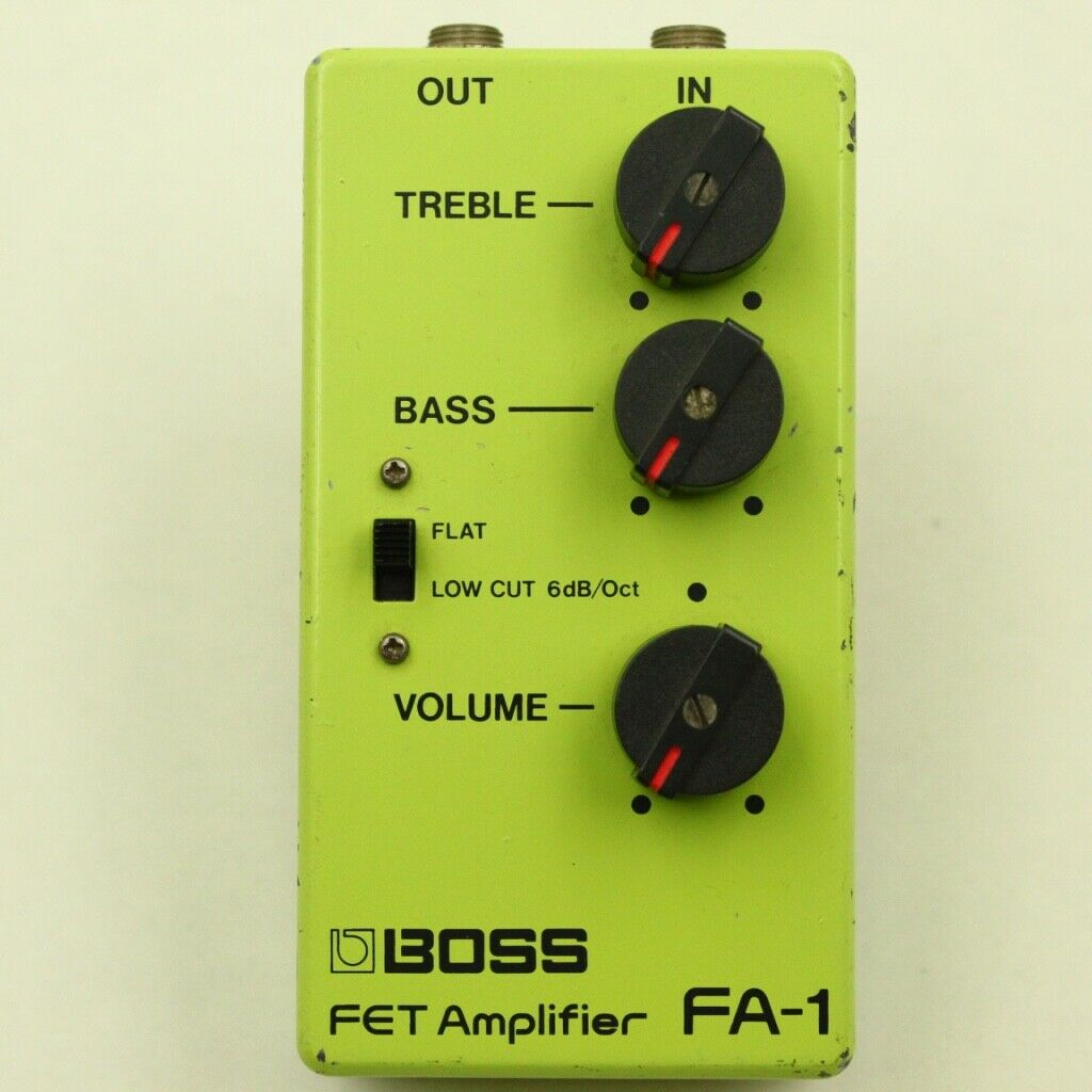 BOSS FA-1 FET Amplifier Made in Japan Vintage guitar effect pedal F S From Japan
