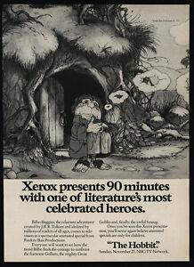 1977-THE-HOBBIT-J-R-R-TOLKIEN-Art-Television-Show-Xerox-VINTAGE-AD