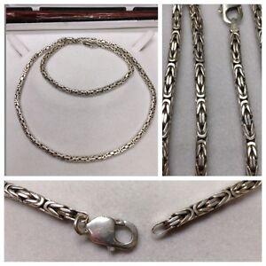 Das Bild wird geladen schoene-Koenigskette-925er-Silber -Silberkette-Silbercollier-Silberschmuck ccc4dddfe5