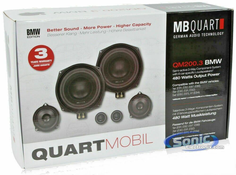 MB Quart QMW200 BMW 1er 3er 5er X1 E81 §90 E91 E87 2x 20cm Tieftöner für z.B