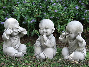 Image Is Loading Buddha Monk Set Speak See Hear No Evil
