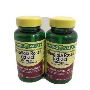 Rhodiola Rosea Extract 500mg 60 Count 3% Salidrosides 1% Rosavins Exp 03/2021+ | eBay