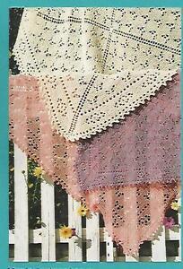 Butterfly Garden Scarf Shawl Throw Knitting Instruction Pattern