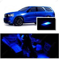For Dodge Durango 2011-2015 Blue LED Interior Kit + Blue License Light LED