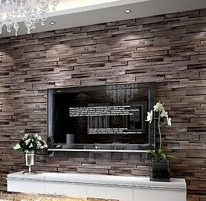 A Imagem Está Carregando Modern Rustic Wood Blocks Brick Wall Effect Vinyl