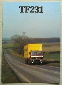 Renault Tf231 Truck Uk Commercial Vehicles Sales Brochure Apr 1982 Ep 30 132 Ebay
