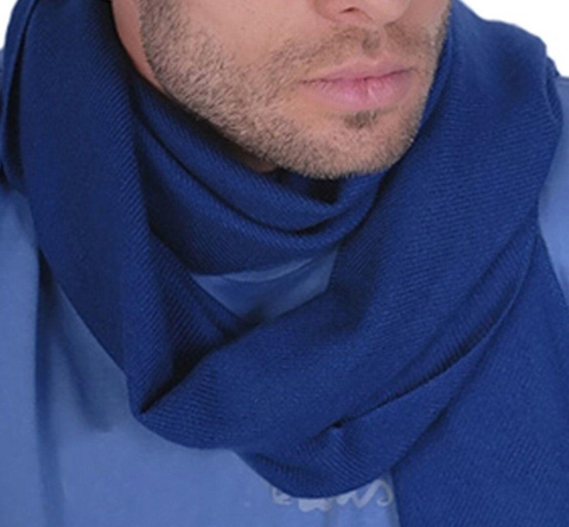Balldiri 100% Cashmere Schal 200 x 35 cm 4-fädig gewebt kobaltblau