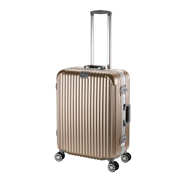 24'' Gold Luxury Aluminum Frame Travel Luggage 4 Wheels Trolley Suitcase