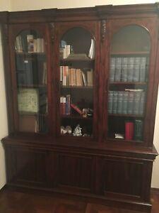 vendo libreria inglese in mogano periodo vittoriano