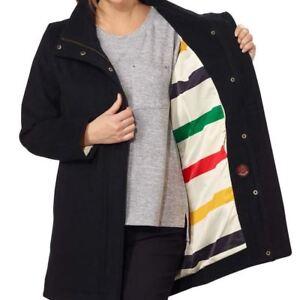 Ull S M Nwt Størrelse Water Women's L Pendleton Xl Jacket Black Resistant Xs RI78T