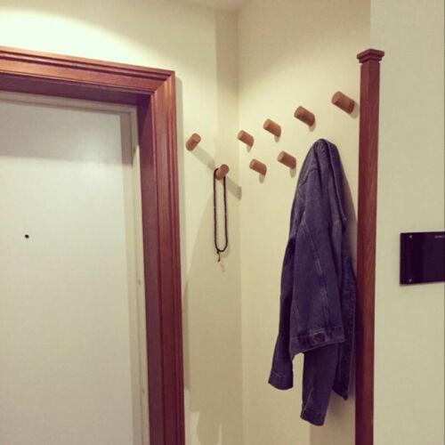 Natural Wooden Hook Wall Hooks Hat Jacket Peg Coat Storage Hanger Home Storage