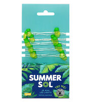 Summer Sol 25 Bulb Set Battery Operated Rice Lights Yellow Green Pineapple