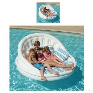 Image Is Loading Oversized Swimming Pool Lounger Float Chair Inflatable