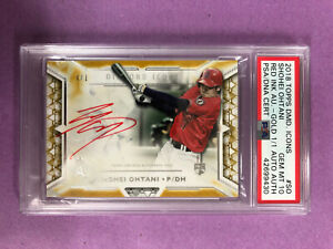 2018 Topps Diamond Icons Shohei Ohtani RC Red Ink Gold Auto 1/1 PSA 10 GEM MINT
