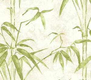 Wallpaper-Designer-Green-Bamboo-on-Cream-Faux