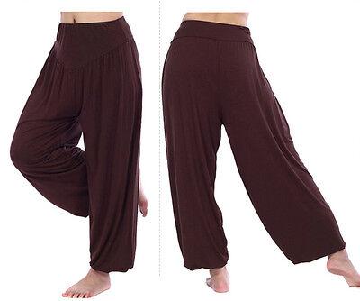 Harem Genie Yoga Pants Aladdin Hippie Baggy Jumpsuit Leggings Athletic Smocked