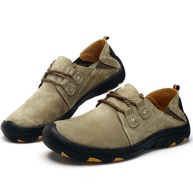 Uomo Casual Climbing Lace Up Athletic Sport Hiking Driving Shoes Outdoor Sneaker