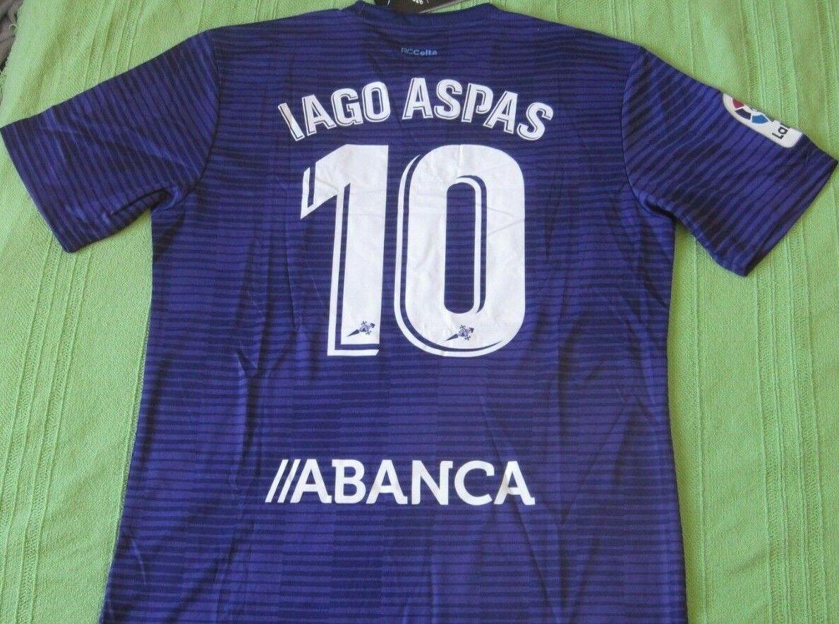 Camiseta Shirt Maillot Trikot CELTA Vigo Adidas 10 IAGO ASPAS away Dimensione L