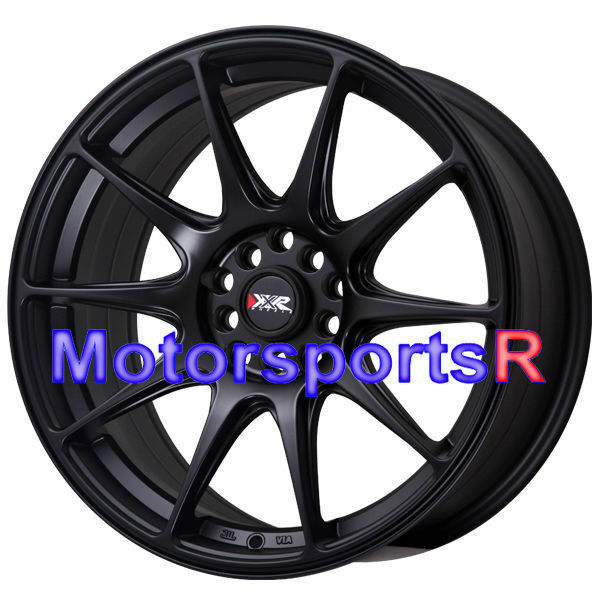 XXR 527 17 X 7.5 +40 Flat Black Concave Rims Wheels 5x114