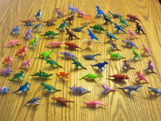"""12 NEW TOY DINOSAURS KIDS PLAYSET 2"""" SIZE DINOSAUR FIGURES DINO PARTY FAVORS"""