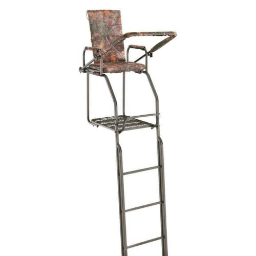 21/' Double Rail Ladder Tree Stand Hunting Huge XL Rifle Bow Deer Archery Solid