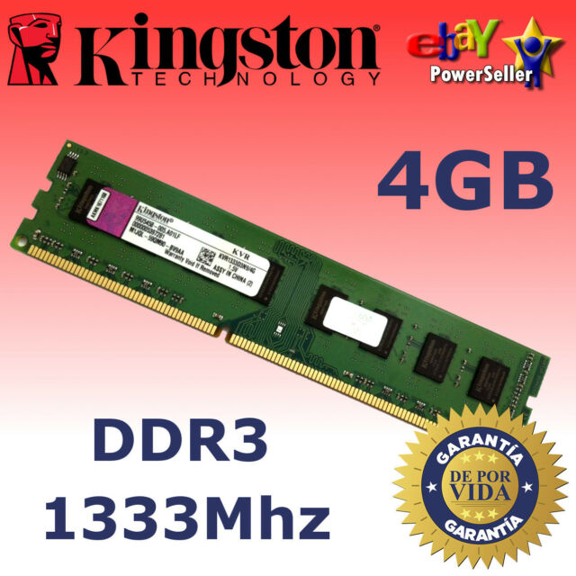 Memoria RAM DDR3 4GB 1333Mhz - Kingston ¡ NUEVA! - NO COMPATIBLE CON INTEL